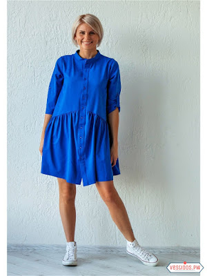 vestidos color azul playeros