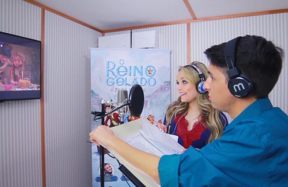 """Confira o making of e erros de gravação da animação """"Reino Gelado: Fogo e Gelo"""""""