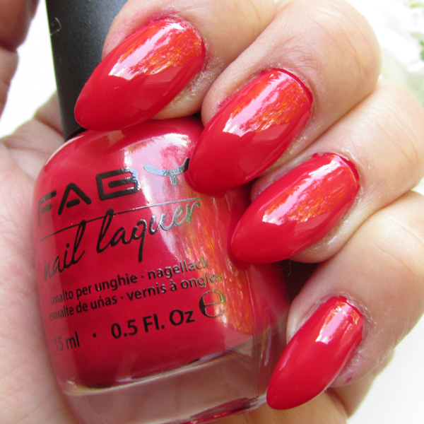 Faby Nail Laquer Red Reflex & Base&Top Coat Nagellacke, Review, Swatches