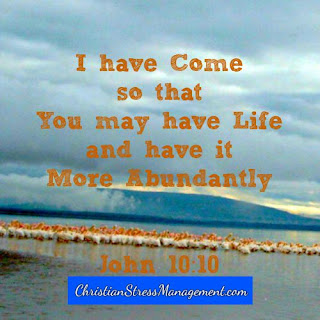 I have come so that you may have life and have it more abundantly (John 10:10)