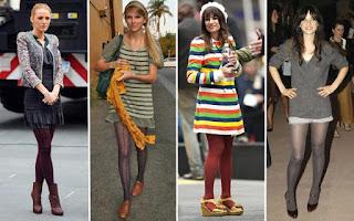 mini saia com meia fina colorida - fotos e modelos