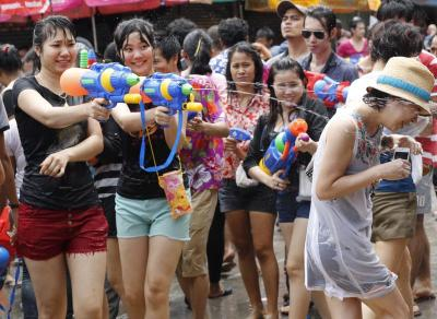 THAILAND CUSTOMS SONGKRAN FESTIVAL