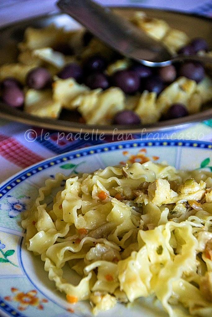 ricetta pasta riccia e baccalà