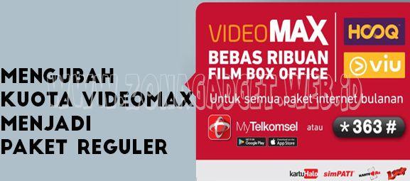 Cara Mengubah Kuota Hooq Videomax Menjadi Paket Flash Reguler
