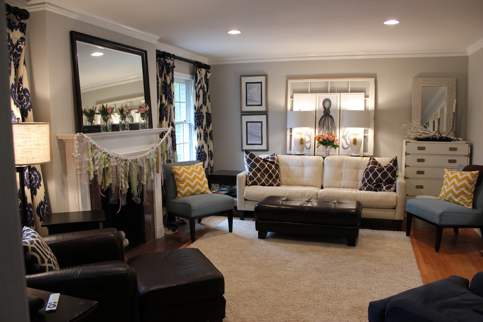 Fifty shades of grey our house paint colors southern - Gray living room walls ...