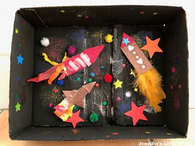 Firework display in a box
