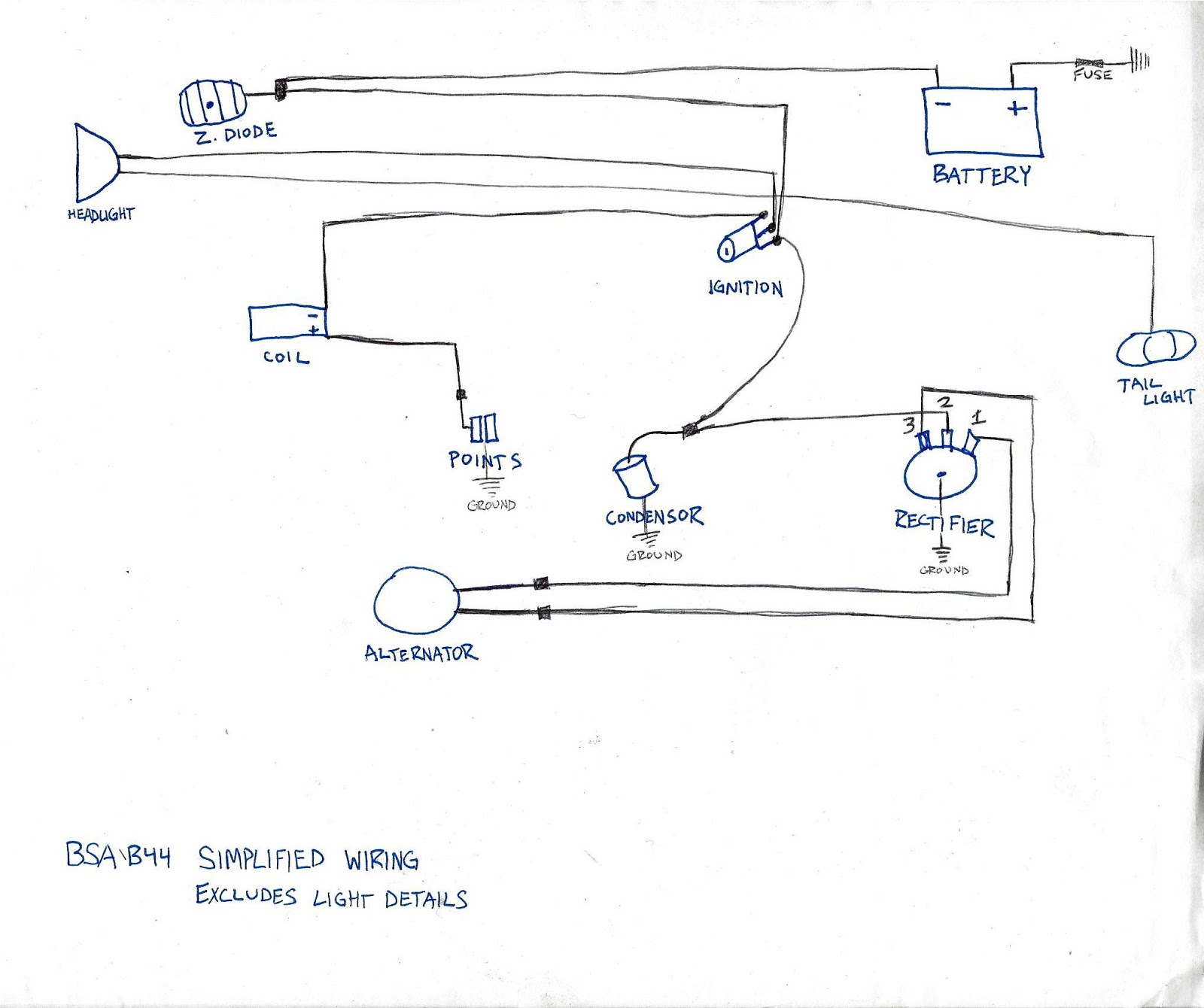 small resolution of bsa wiring diagrams wiring diagram source two wire alternator wiring diagram 1968 bsa wiring diagram