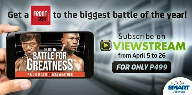 Watch Pacquiao-Mayweather Fight LIVE For Only Php499