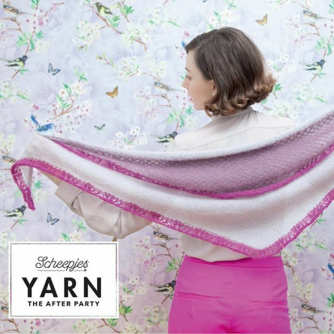 Rythm Layered Shawl, photo by Scheepjes | Happy in Red