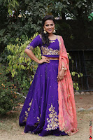 Actress Shraddha Srinath in Purple Chania Choli Cute Pics ~  Exclusive 09.jpg