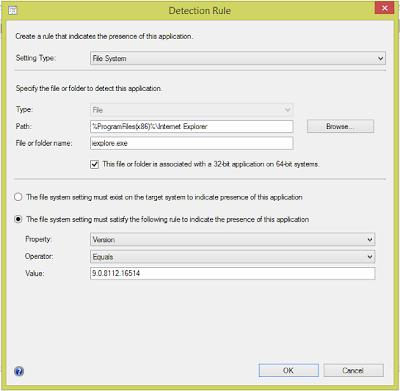 Remove Internet Explorer 10 using SCCM & Software Catalog 2