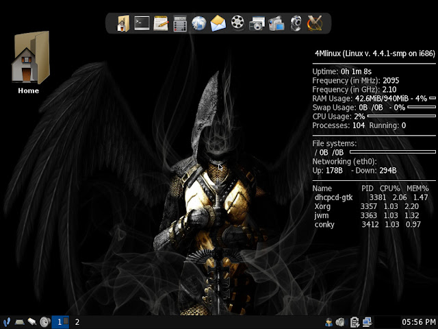 4MLinux JWM Desktop - First impression