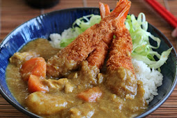 Ebi Fry Curry Don (Fried Shrimp with Curry on Rice)