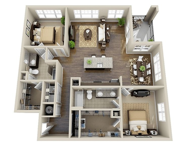 Open floor plans perks and benefits for 6 bedroom house designs 3d