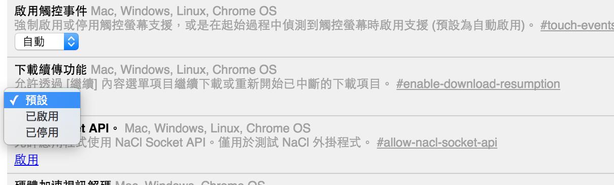 Chrome 的檔案續傳功能