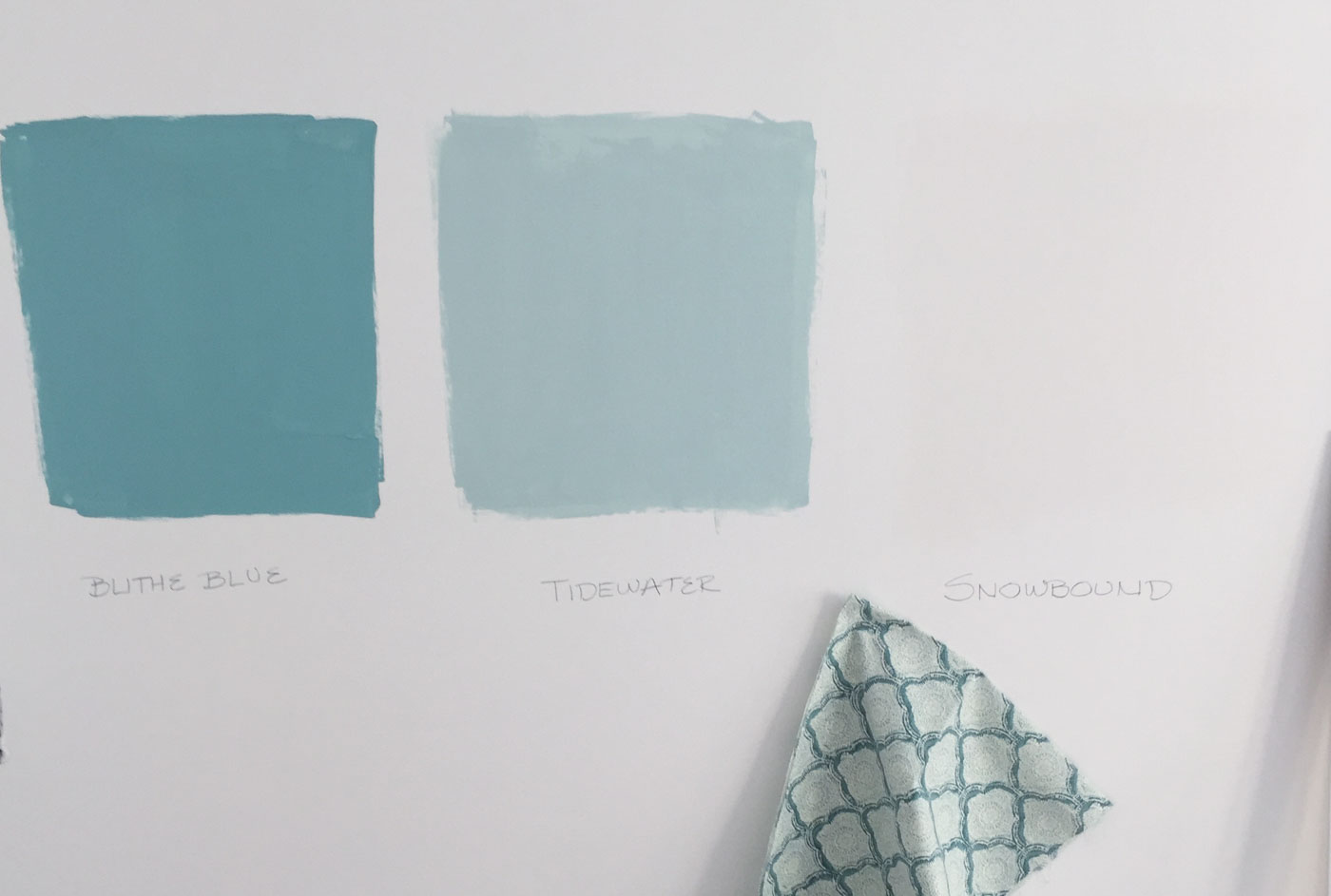 Sherwin Williams Blithe Blue Tidewater And Snowbound