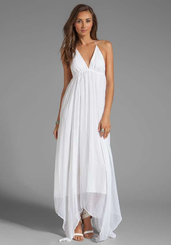 Vestidos blancos largos ¡10 bellas ideas!