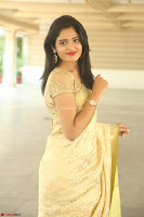 Harshitha looks stunning in Cream Sareei at silk india expo launch at imperial gardens Hyderabad ~  Exclusive Celebrities Galleries 028.JPG