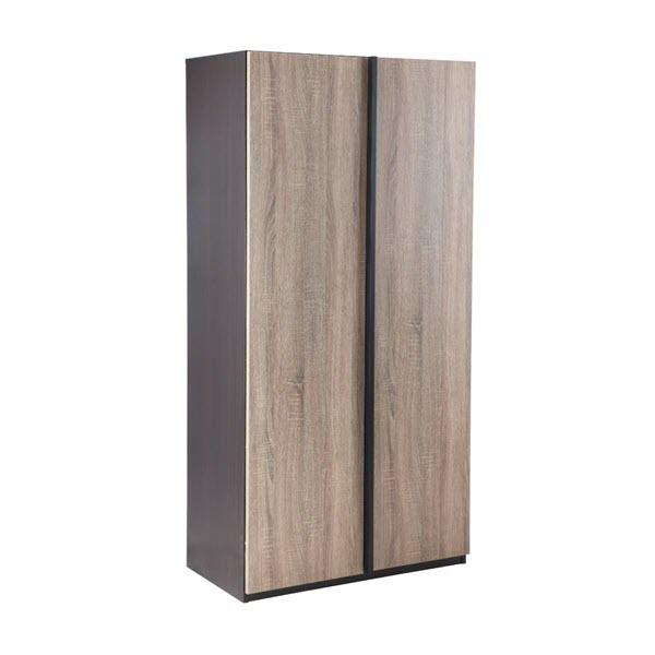 MIZUMO Tủ Giày 80x40x160 cm Màu Nâu Đen