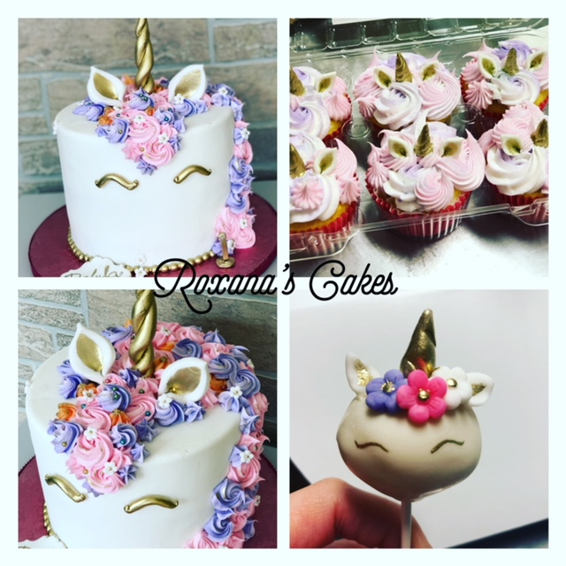 Unicorn Themed Cake Cupcakes And Cakepops Happy 1st Birthday Delyla