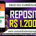 REPOSITOR COM REMUNERAÇÃO R$ 1.200,00 COM 03 VAGAS PARA EMPRESA NO RECIFE
