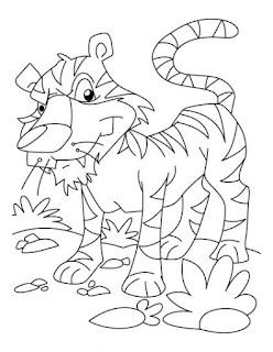 Sumatran Tiger Coloring Sheet Images For Print Online Free
