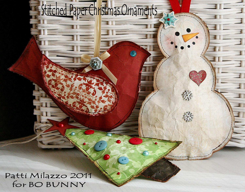 The BoBunny Blog: Handmade Christmas Ornaments