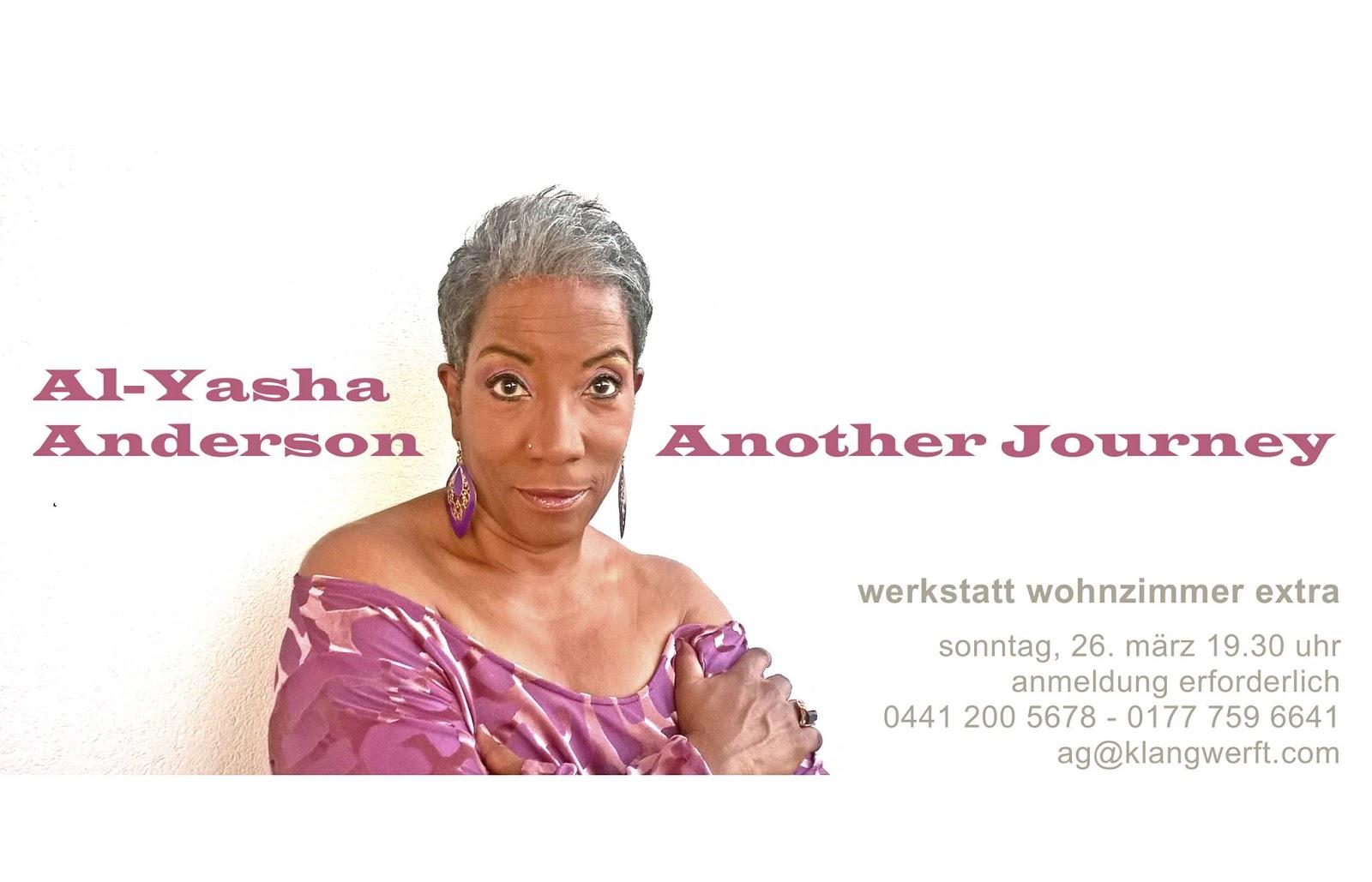 Al Yasha Anderson Ist Wieder In Oldenburg Am Wochenende 25 26 Mrz Gibt Sie