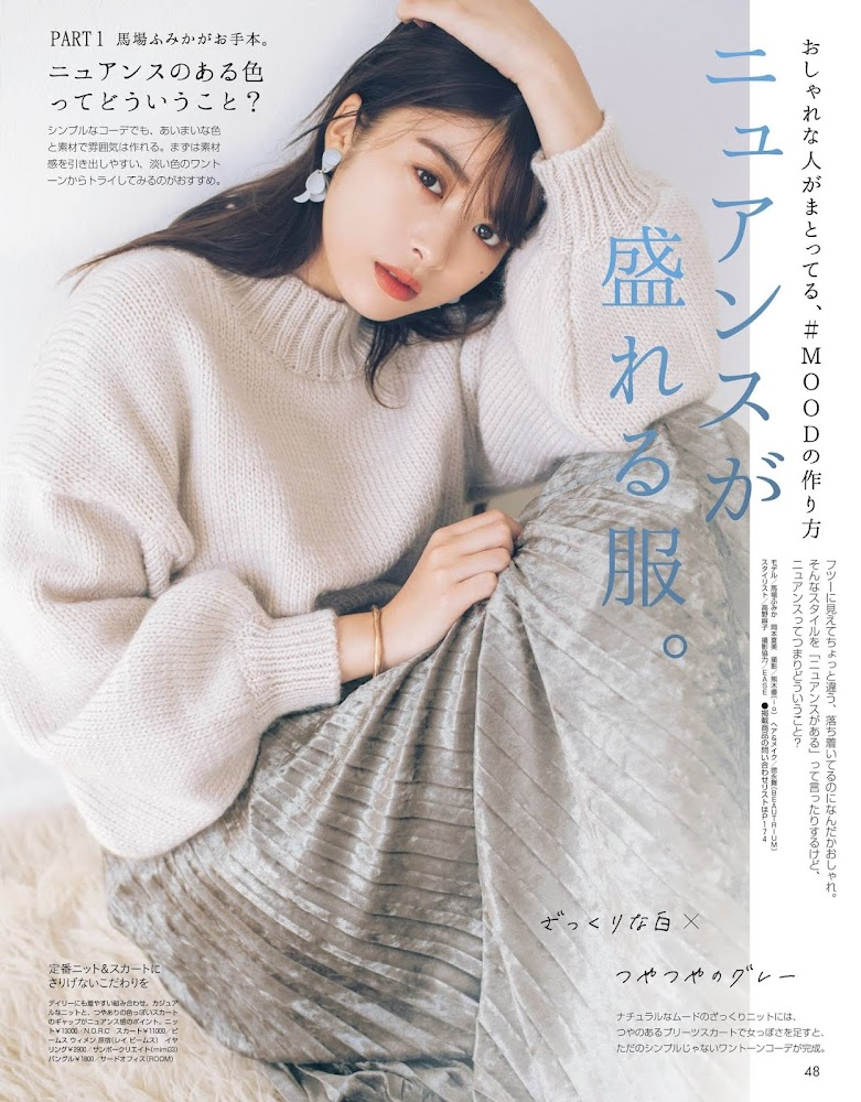 [Non-no] 2020.01 – 03 Fumika Baba 馬場ふみか