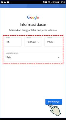 Cara 2 : Membuat Akun Gmail Melalui Aplikasi Gmail 7
