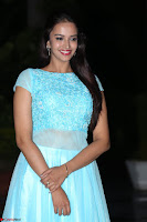 Pujita Ponnada in transparent sky blue dress at Darshakudu pre release ~  Exclusive Celebrities Galleries 105.JPG