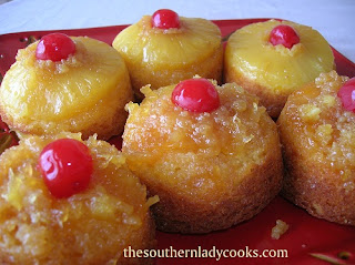 http://thesouthernladycooks.com/2012/03/08/pineapple-upside-down-cupcakes/