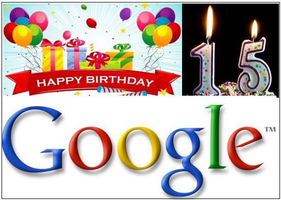 Happy 15th Birthday To Google