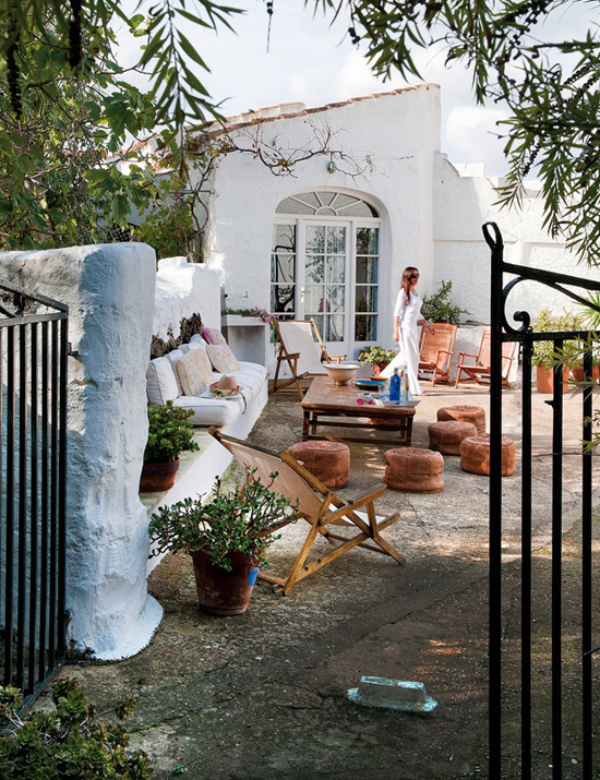 Eclectic country home in Menorca, Spain.