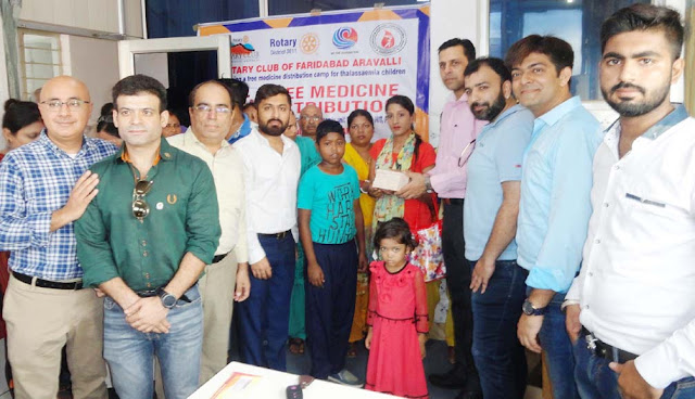 Free drug delivery at Shriramji Dharmandh Hospital campus for children with Thalassemia