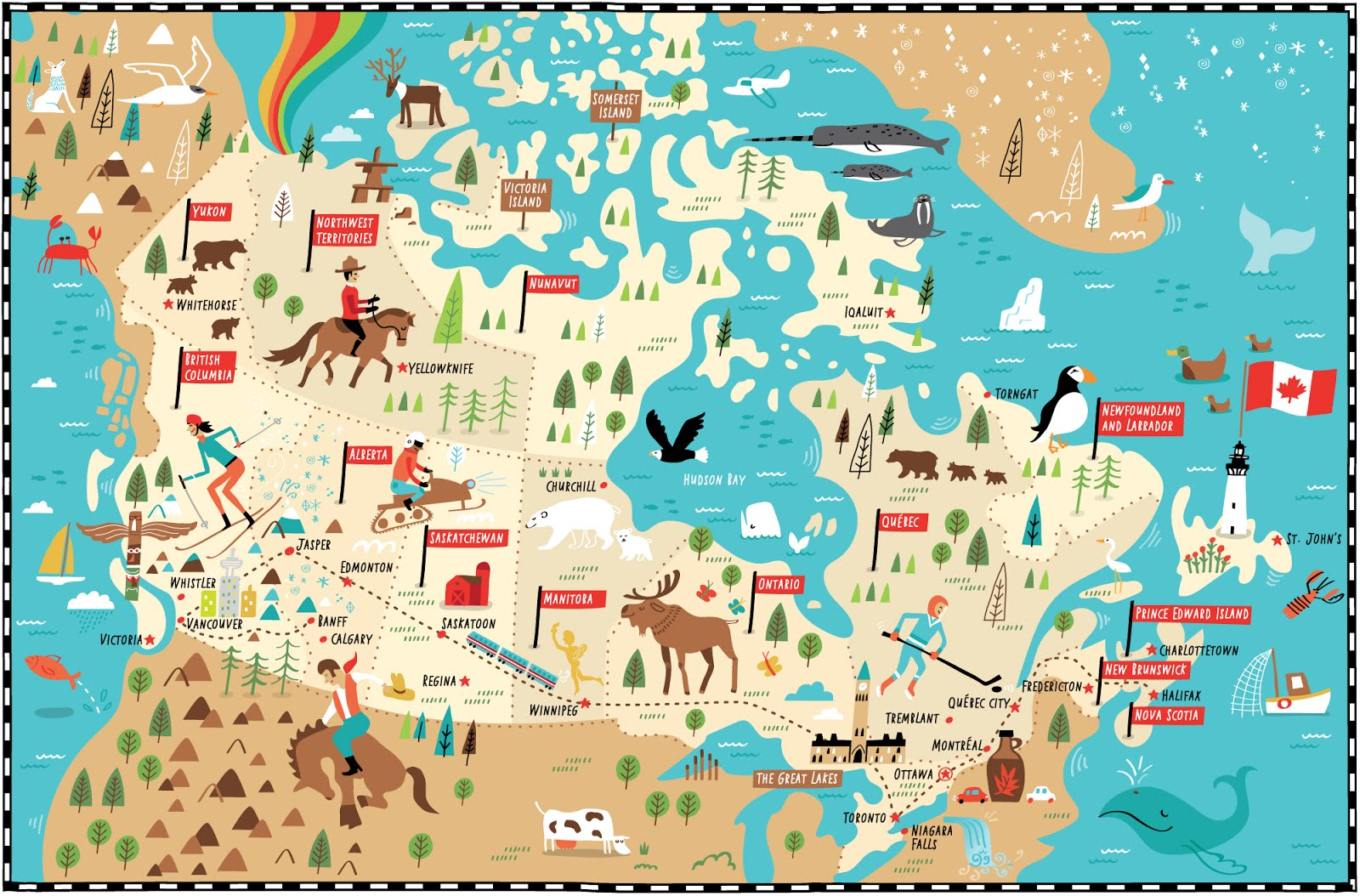 I Draw Maps Illustrated Map Of Canada For Telegraph Uk By