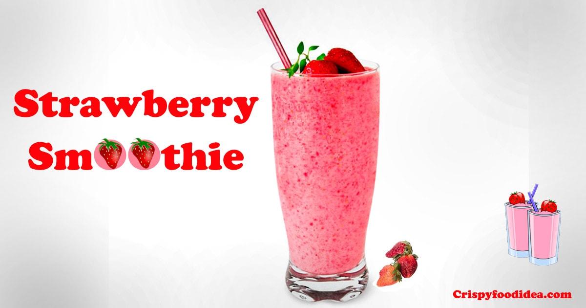 Strawberry Smoothie Banner