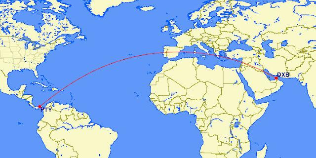Dubai - Panamá: o mais longo vôo sem escalas regulares em todo o mundo