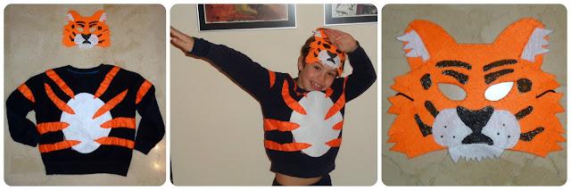 Disfraz tigre - Tiger costume DIY