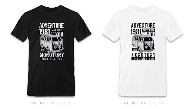 SRT02-P4FC-CTS Retro T Shirt Design, Custom T Shirt Printing