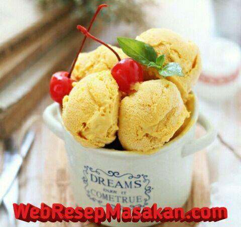Es krim mangga, Resep Es Krim Mangga, Cara membuat es krim mangga, NCC,