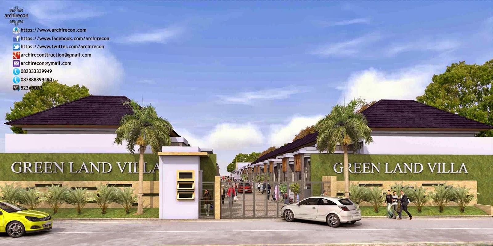 Hasil Jasa Desain Rumah Minimalis - Perumahan Green Land Villa - Gate