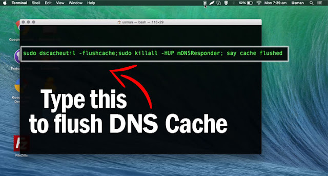 flush DNS cache in Mac OS