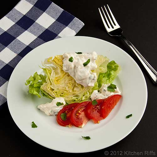 Blue Cheese Dressing with Wedge Salad