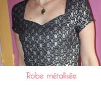 robe métallisée