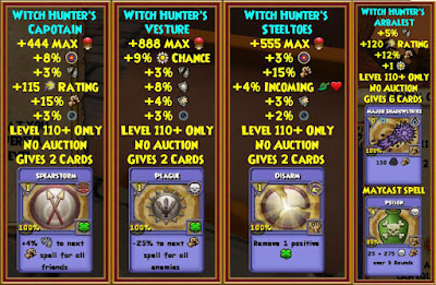 Wizard101 Witch Hunter's Bundle Darkmoor Best Gear Level 110+