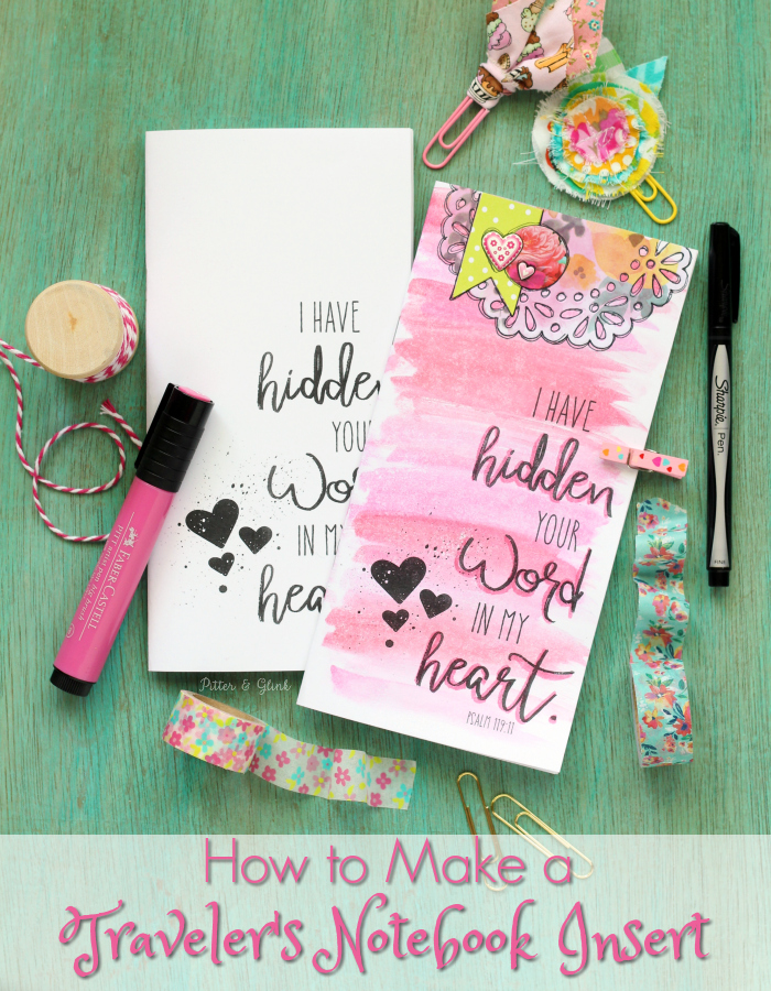 how to traveler's notebook insert printable