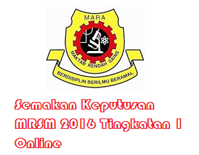 MRSM 2016 Tingkatan 1