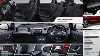 foto dashboard interior honda mobilio RS