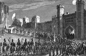The funeral procession of Princess Charlotte at Windsor from Memoirs of Her Late Royal Highness  Charlotte Augusta by Robert Huish (1818)